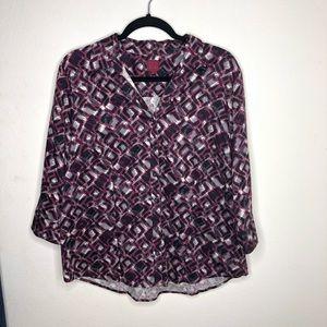 🦋3/$15 Pink/Purple 212 Button Down Blouse XL